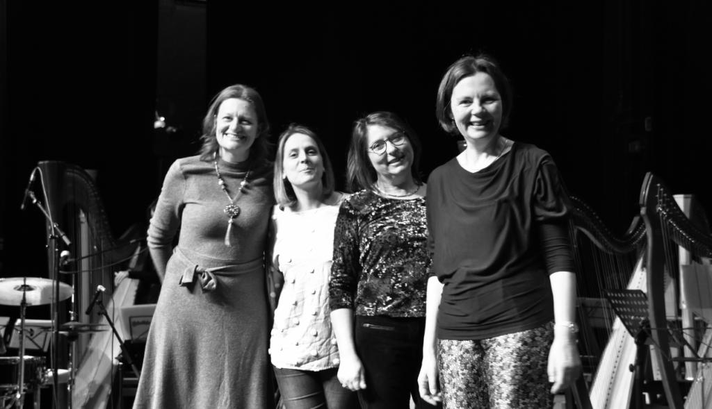 Het team van de Harpwedstrijd Felix Godefroid